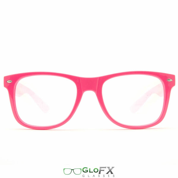 GloFX Ultimate Diffraction Glasses - Pink - Clear