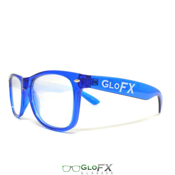 GloFX Ultimate Diffraction Glasses - Transparent Blue - Clear