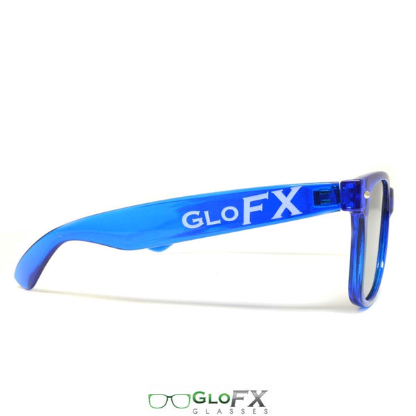 GloFX Ultimate Diffraction Glasses - Transparent Blue - Emerald Tinted