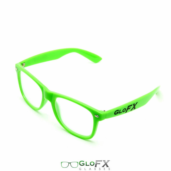GloFX Ultimate Diffraction Glasses - Green - Clear
