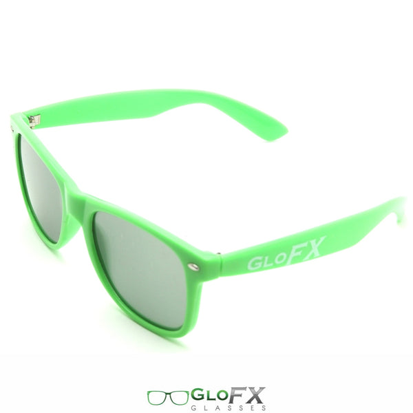 GloFX Ultimate Diffraction Glasses - Green - Emerald Tinted