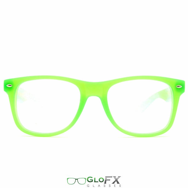 GloFX Ultimate Diffraction Glasses - Glow Green - Clear
