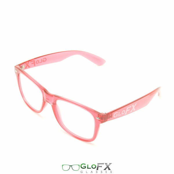 GloFX Ultimate Diffraction Glasses - Transparent Red - Clear