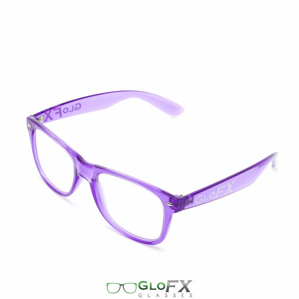 GloFX Ultimate Diffraction Glasses - Transparent Purple - Clear