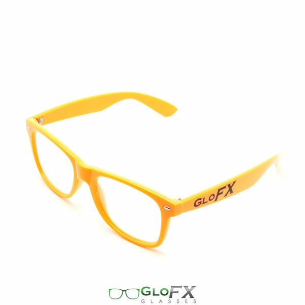 GloFX Ultimate Diffraction Glasses - Orange - Clear