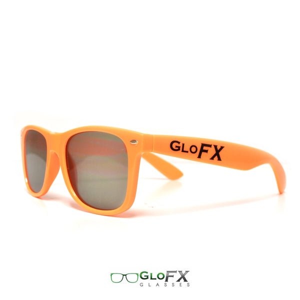GloFX Ultimate Diffraction Glasses - Orange - Emerald Tinted