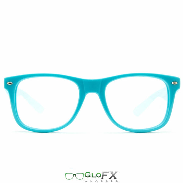 GloFX Ultimate Diffraction Glasses - Blue - Clear
