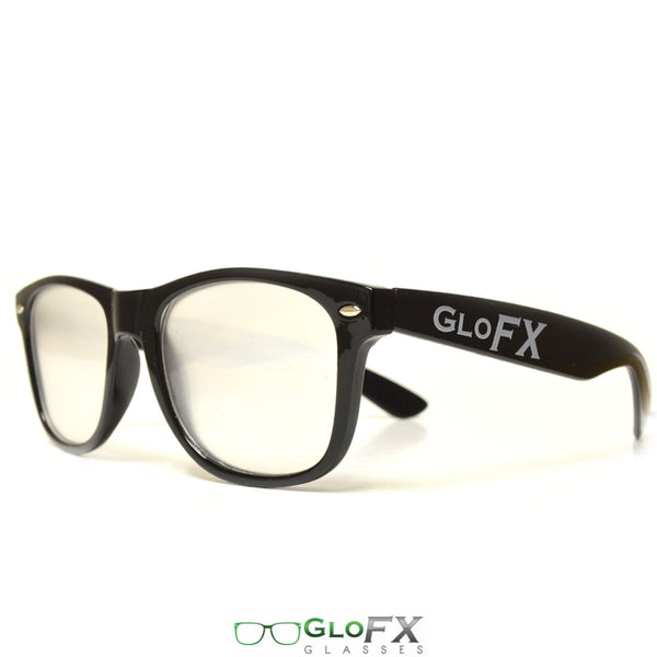 GloFX Ultimate Extreme Diffraction Glasses - Black - Clear