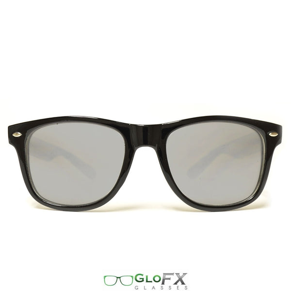 GloFX Ultimate Extreme Diffraction Glasses - Black - Emerald Tinted