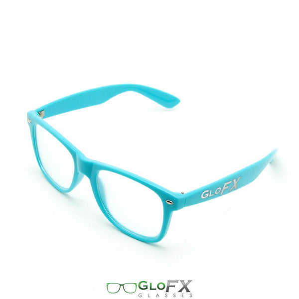 GloFX Ultimate Extreme Diffraction Glasses - Blue - Clear