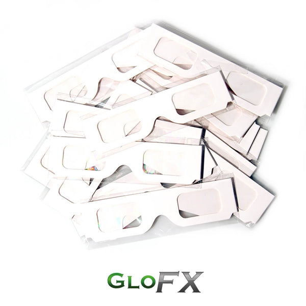 Paper Diffraction Glasses - White