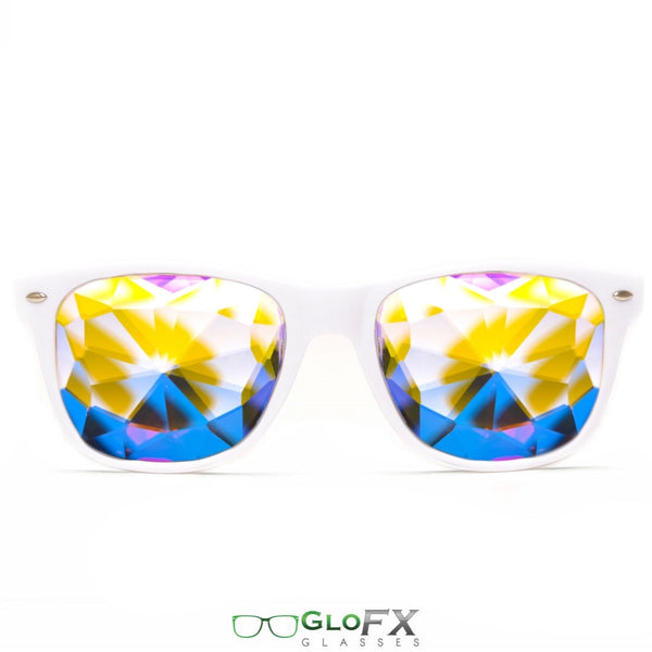 GloFX Ultimate Kaleidoscope Glasses - White
