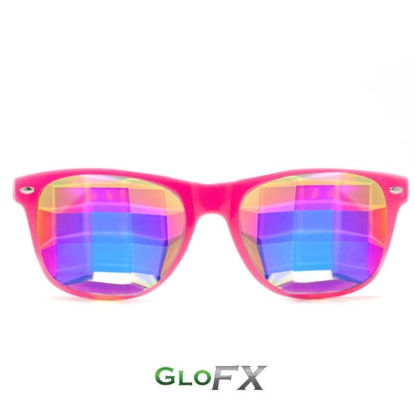 GloFX Ultimate Kaleidoscope Glasses - Pink - Bug-Eye