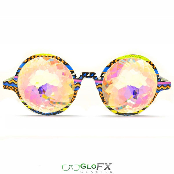 GloFX Kaleidoscope Glasses - Tribal - Rainbow