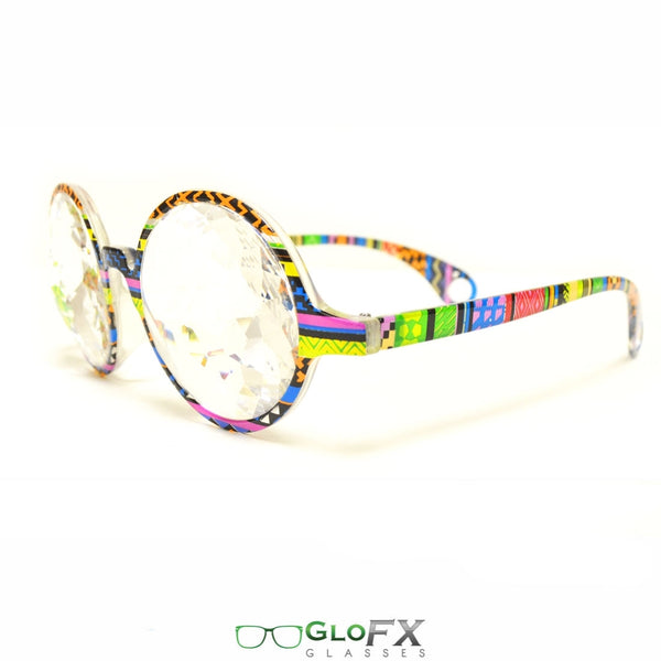 GloFX Kaleidoscope Glasses - Tribal - Clear