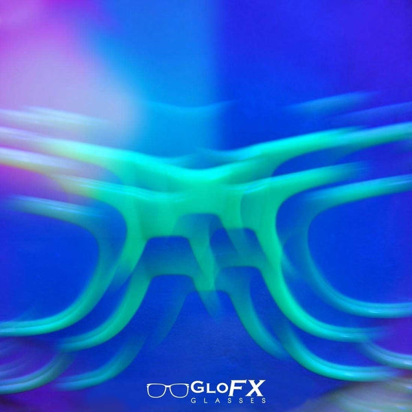 GloFX Kaleidoscope Glasses - Tribal - Rainbow Bug-Eye