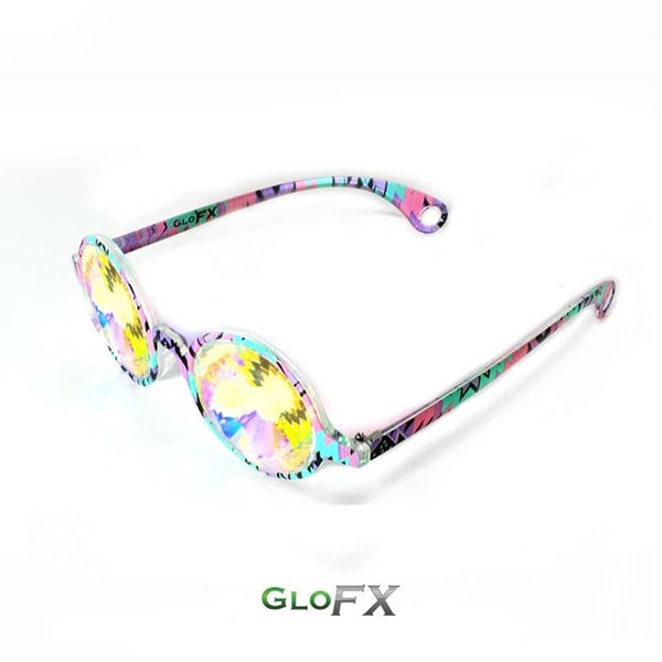 GloFX Kaleidoscope Glasses - Aztec - Rainbow Wormhole