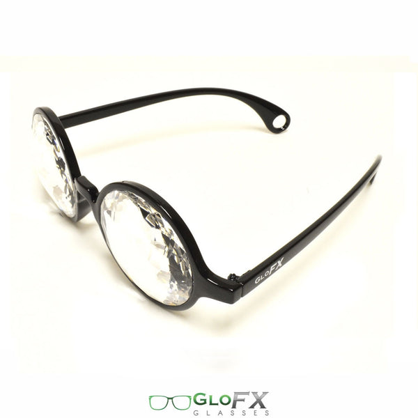 GloFX Kaleidoscope Glasses - Black - Clear