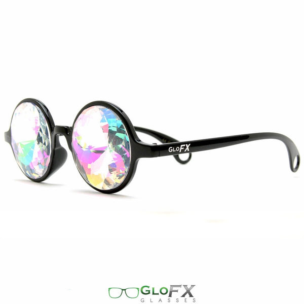 GloFX Kaleidoscope Glasses - Black - Rainbow