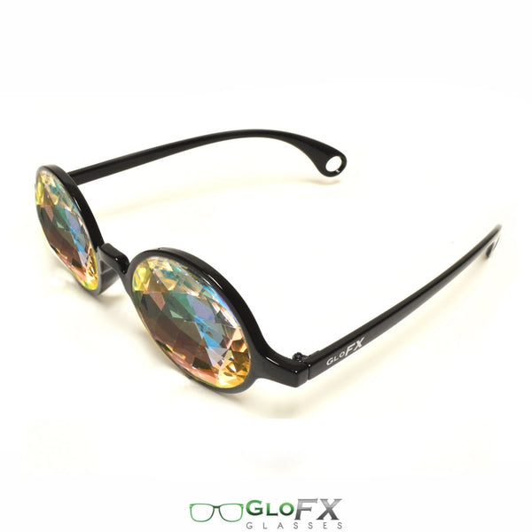 GloFX Kaleidoscope Glasses - Black - Rainbow Bug-Eye
