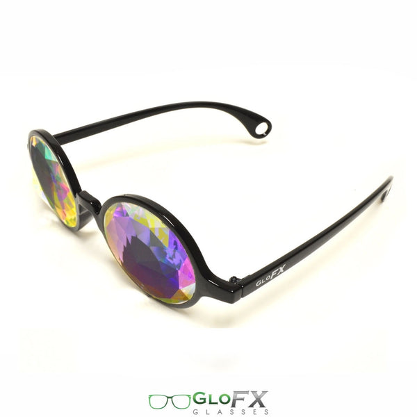 GloFX Kaleidoscope Glasses - Black - Rainbow Fractal