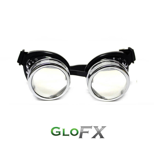 GloFX Diffraction Goggles - Chrome - Clear