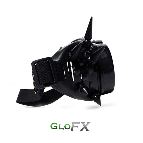 GloFX Diffraction Goggles - Black Spike - Clear