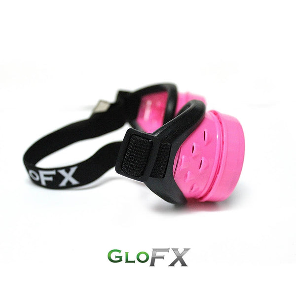 GloFX Diffraction Goggles - Pink - Clear