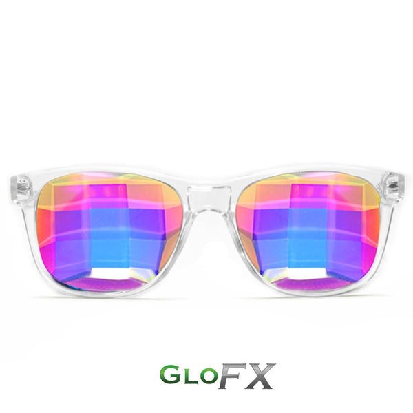 GloFX Ultimate Kaleidoscope Glasses - Clear - Bug-Eye