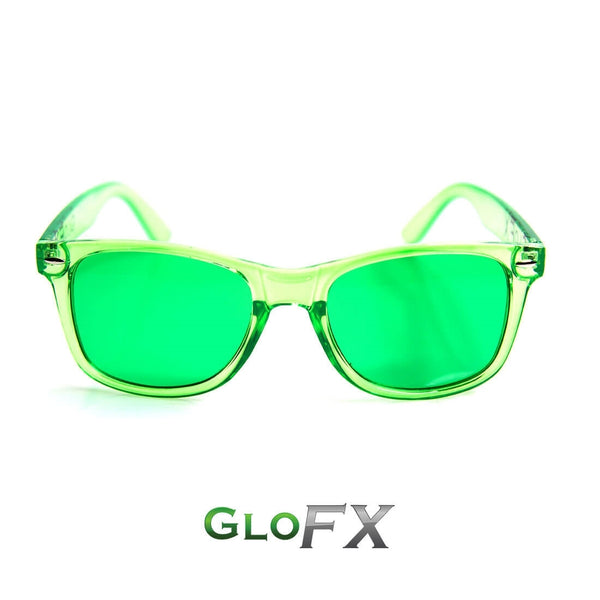 GloFX Colour Infused Diffraction Glasses - Green