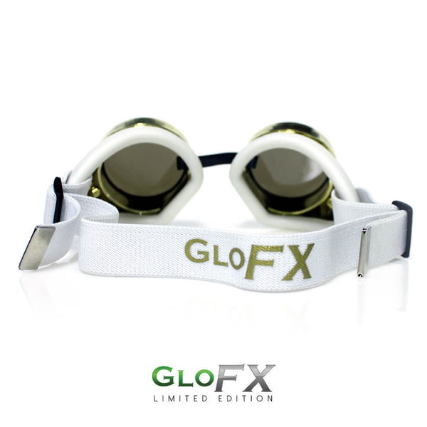 GloFX Diffraction Goggles - Royal Gold - Clear