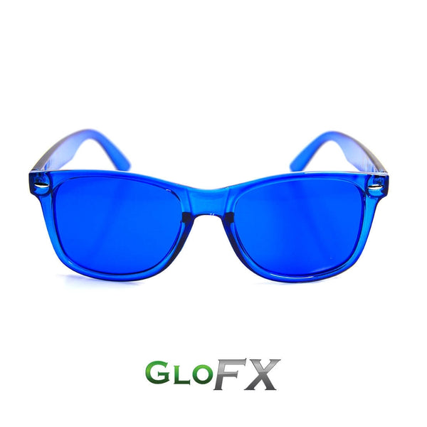 GloFX Colour Therapy Glasses - Deep Blue