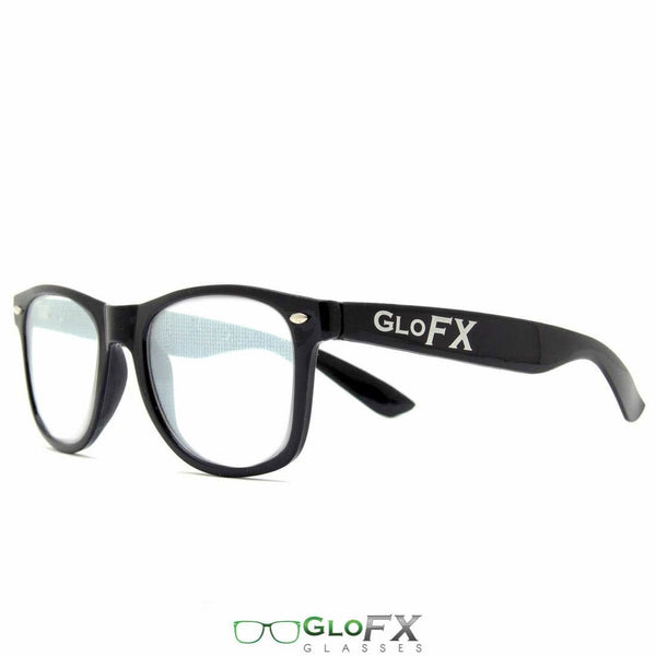 GloFX Spiral Effect Diffraction Glasses - Black