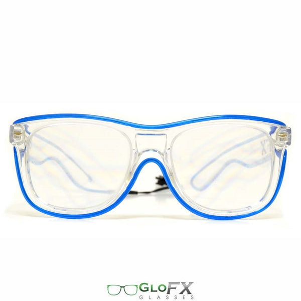 GloFX Ultimate Diffraction Glasses - Clear with Pink Luminescence