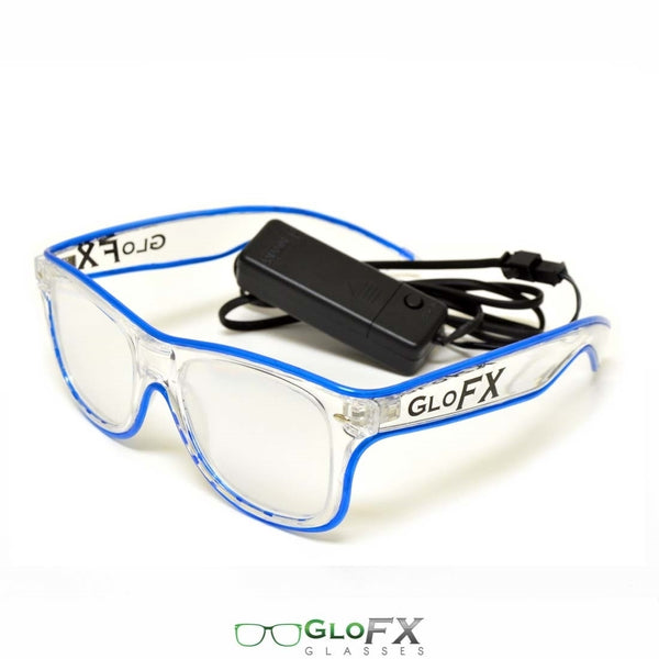 GloFX Ultimate Diffraction Glasses - Clear with Yellow Luminescence
