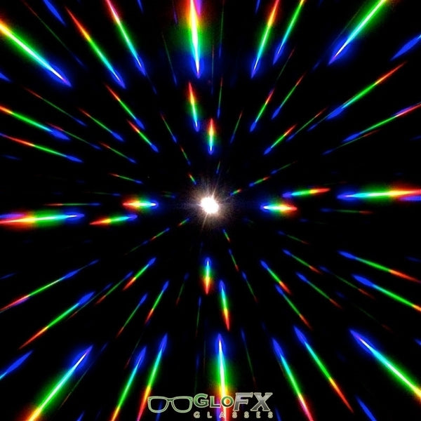 GloFX Ultimate Diffraction Glasses - Clear with Green Luminescence
