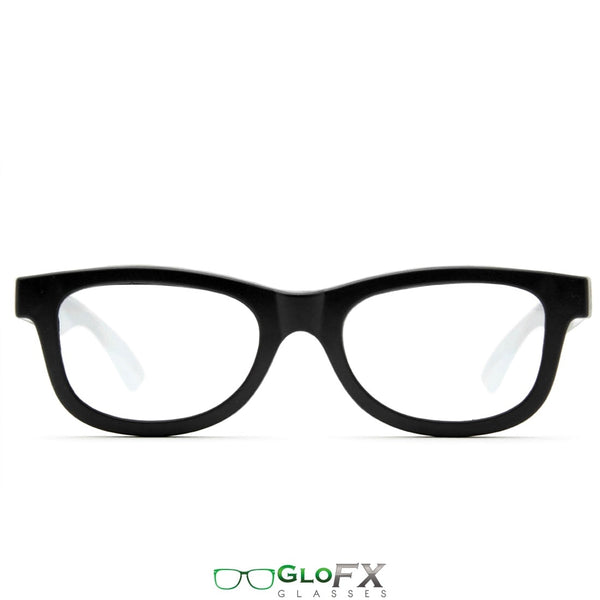GloFX Standard Diffraction Glasses - Black - Clear