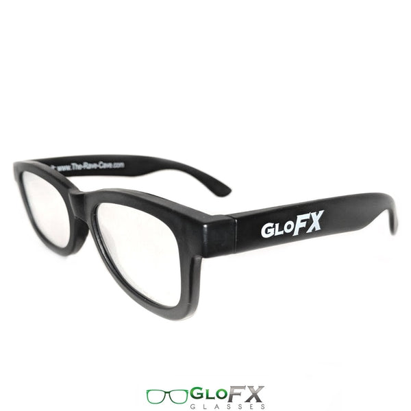 GloFX Standard Diffraction Glasses - Black - Clear - 5 Pack
