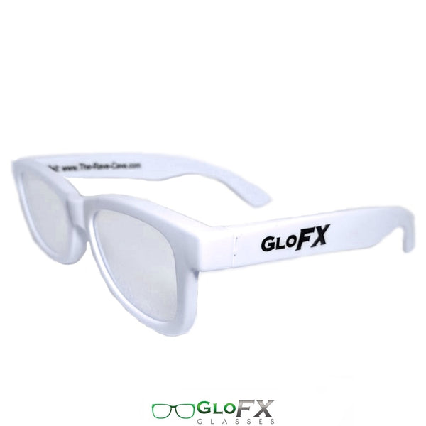 GloFX Standard Diffraction Glasses - White - Clear