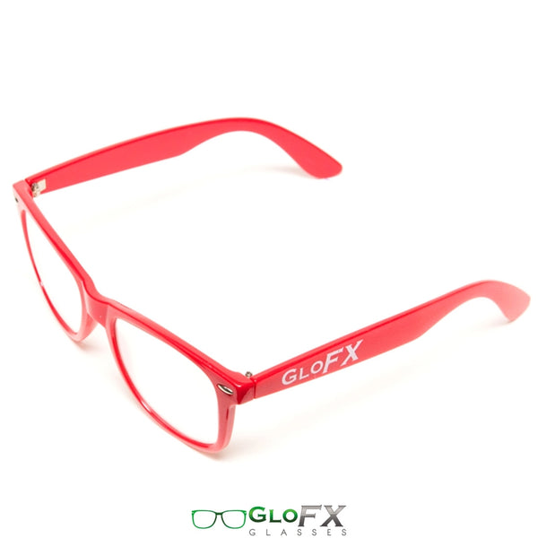GloFX Ultimate Diffraction Glasses - Red - Clear