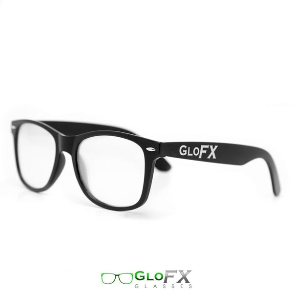 GloFX Ultimate Diffraction Glasses - Matte Black - Clear