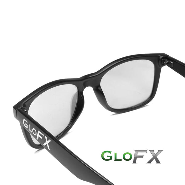 GloFX Ultimate Diffraction Glasses - Matte Black - Emerald Tinted