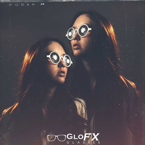 GloFX Kaleidoscope Glasses - Clear - Rainbow Wormhole