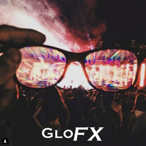 GloFX Ultimate Diffraction Glasses - Pink - Emerald Tinted