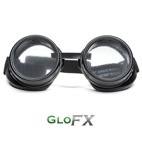 GloFX Heart Effect Diffraction Goggles – Black