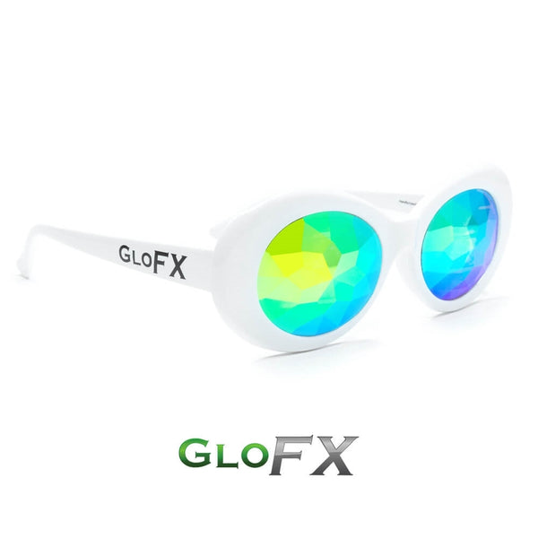 GloFX Clout Kaleidoscope Glasses - White