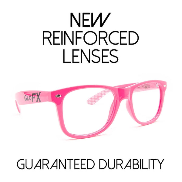 GloFX Heart Effect Diffraction Glasses – Pink