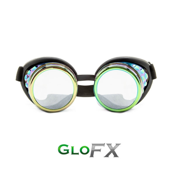 GloFX Diffraction Goggles - Polychrome - Clear