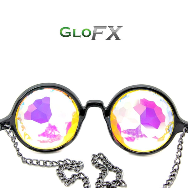 GloFX Chain Kaleidoscope Glasses