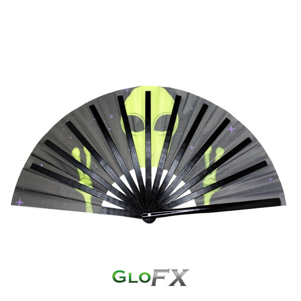 GloFX Festival Folding Fan - Alien